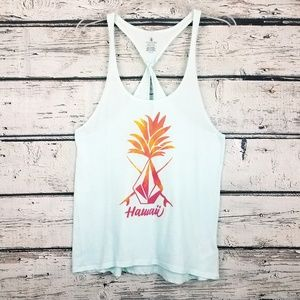 Volcom Tops - Volcom Hawaii pineapple graphic soft teal tank top